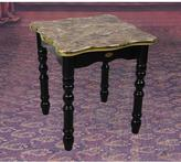 Uniquewise 13.7 in. x 13.7 in. x 15 in. High Small Wood Gold Marble Finish Coffee Table