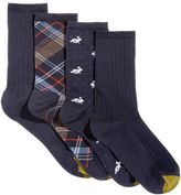 Gold Toe Women's 4-Pk. Madras Plaid Crew Socks, A Macys's Exclusive Style