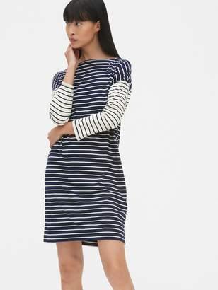 Gap Three-Quarter Sleeve Mix-Stripe T-Shirt Dress