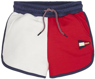 Tommy Hilfiger Girls Colourblock Jersey Shorts - White/Navy