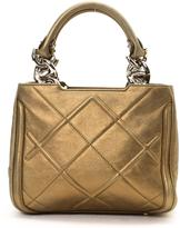 Salvatore Ferragamo Pre-Owned Gold Leather Handbag With Quilting