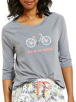 Sleep Sense Keep on Rollin' Raglan Jersey Sleep Top