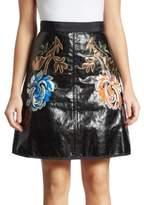 Romance Was Born Metallic Embroidered Skirt
