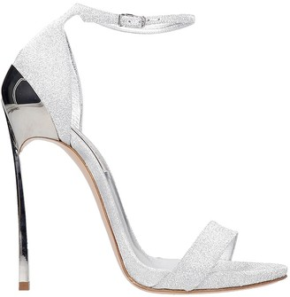 Casadei Sandals In Silver Leather