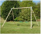 TP Triple Round Wood Swing Set