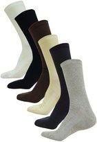 Loki Men's Cotton Spandex Sport Sock Fashionable Mid Calf Multi-color Socks Size 9-12