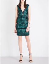 Givenchy Zip-detailed silk-blend dress