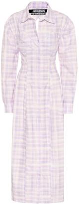 Jacquemus La Robe Valensole cotton shirt dress