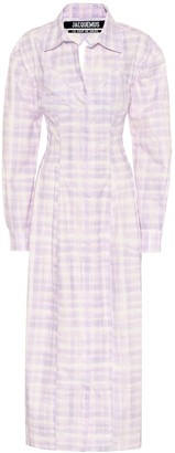 Jacquemus La Robe Valensole cotton shirt dress
