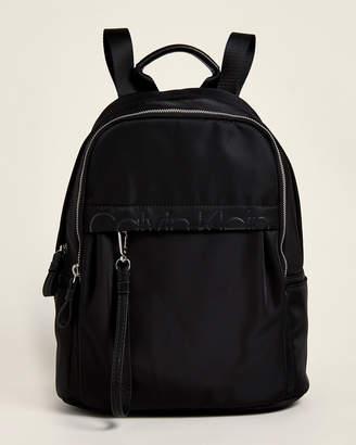 Calvin Klein Nylon Logo Backpack