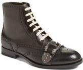 Gucci Iowa Buckle Strap Wingtip Boot (Men)