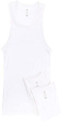 adidas Athletic Comfort 3-Pack Ribbed Tank Top (White/White/White) Men's Sleeveless