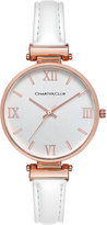Charter Club Women's White Imitation Leather Strap Watch 36mm, Created for Macy's