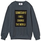 Someday Soon Blue Foil Print Sweatshirt