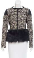 J. Mendel Fur-Paneled Tweed Jacket