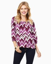 Charming charlie Chevron Easy Blouse