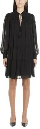 MICHAEL Michael Kors Ruffle Tiered Dress