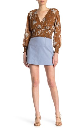 Free People Days in the Sun Faux Suede Mini Skirt