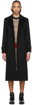 Burberry Black Cashmere Sherringham Coat