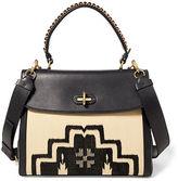 Ralph Lauren Medium Woven-Front Tiffin Bag