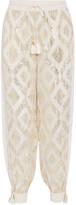 Rachel Zoe Metallic Fil Coupé Silk-blend Wide-leg Pants - Ivory