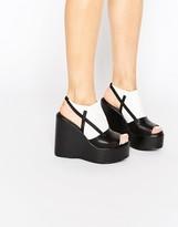 Truffle Collection Calla Platform Wedge Sandals