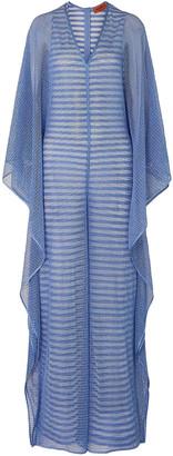 Missoni Draped Metallic Crochet-knit Wide-leg Jumpsuit