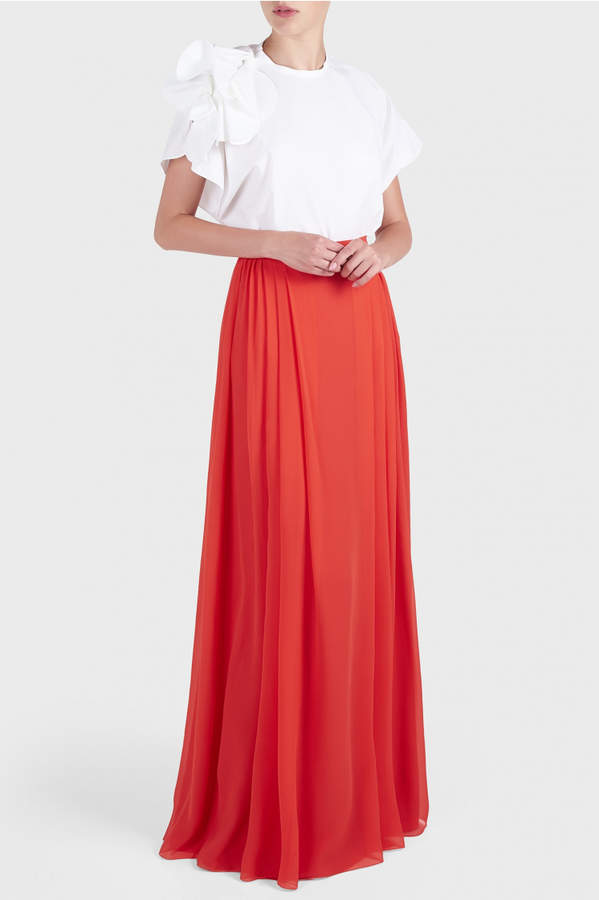 DELPOZO Georgette Maxi Skirt