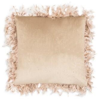 Callisto Home Rica Stone Foiled Animal-Print Down Pillow