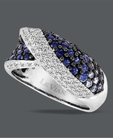Le Vian 14k White Gold Ring, Sapphire (1-1/5 ct. t.w.) and Diamond (1/4 ct. t.w) Ring