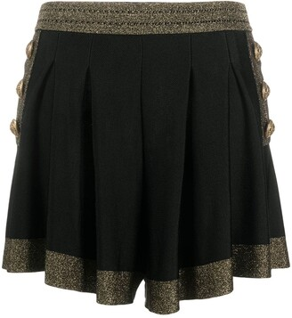 Balmain Glitter-Detail High-Waisted Shorts