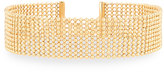 Lydell NYC Multi-Row Ball-Chain Choker Necklace, Golden