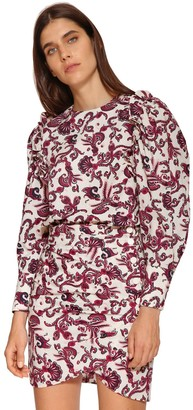 BA&SH Rym Floral Printed Cotton Shirt
