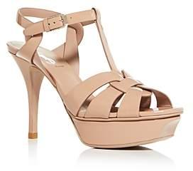Saint Laurent Women's T-Strap High-Heel Sandals