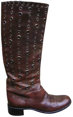 Prada \N Brown Leather Boots