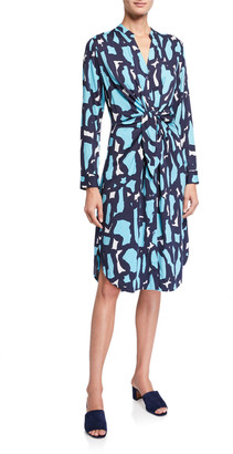 Nic+Zoe Vivid Giraffe Tie-Front Dress