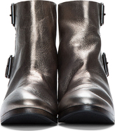 Marsèll Silver Creased Leather Torsolino Buckle Boots