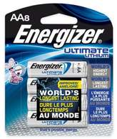 Energizer Ultimate 8-Pack AA 1.5-Volt Lithium Batteries