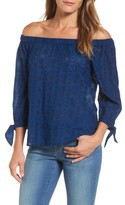 Lucky Brand Women's Schiffli Off The Shoulder Top