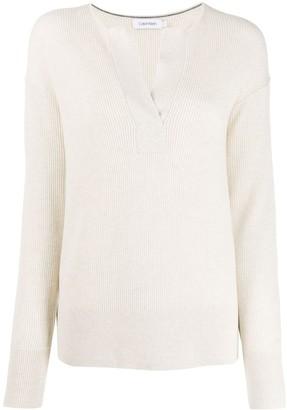 Calvin Klein v-neck ribbed sweater