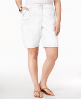 Karen Scott Plus Size Knit Waistband Utility Shorts, Created for Macy's