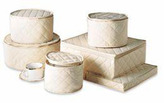 Container Store 6-Piece Quilted China Storage Set Polyester