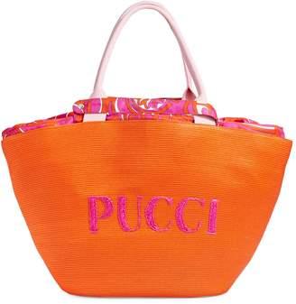 Emilio Pucci Raffia Beach Bag