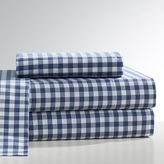 Classic Gingham Sheet Set, Full, Twilight Navy