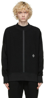 A-Cold-Wall* Black Textured Rhombus Sweatshirt