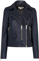 Whistles Navy Agnes Leather Jacket