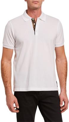 Fendi Men's FF-Placket Polo Shirt