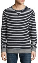 Sol Angeles Striped Terrycloth Pullover, Navy