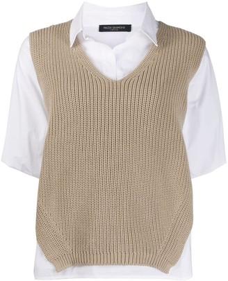 Piazza Sempione layered knit shirt