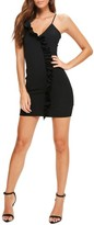 Missguided Women's Ruffle Body-Con Dress
